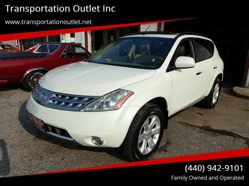2007 Nissan Murano for sale at Transportation Outlet Inc in Eastlake OH