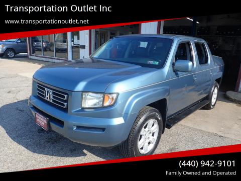 2006 Honda Ridgeline for sale at Transportation Outlet Inc in Eastlake OH