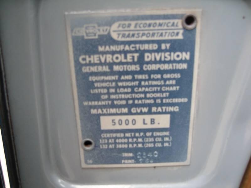 1957 Chevrolet 3100 Step-Side / 4X4 / P/U - Leitchfield KY