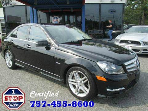 2012 Mercedes-Benz C-Class for sale at 1 Stop Auto in Norfolk VA