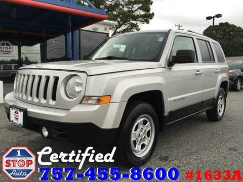 2013 Jeep Patriot for sale at 1 Stop Auto in Norfolk VA
