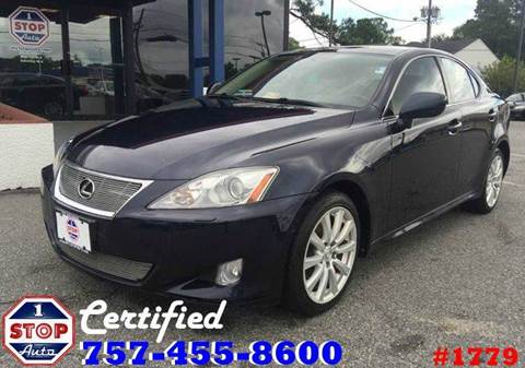 2008 Lexus IS 250 for sale at 1 Stop Auto in Norfolk VA