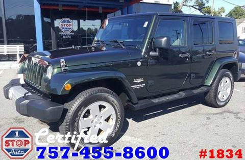 2010 Jeep Wrangler Unlimited for sale at 1 Stop Auto in Norfolk VA