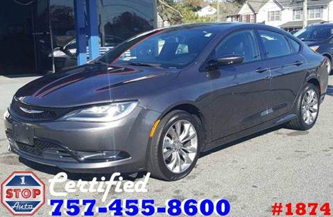 2015 Chrysler 200 for sale at 1 Stop Auto in Norfolk VA