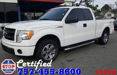 2013 Ford F-150 for sale at 1 Stop Auto in Norfolk VA