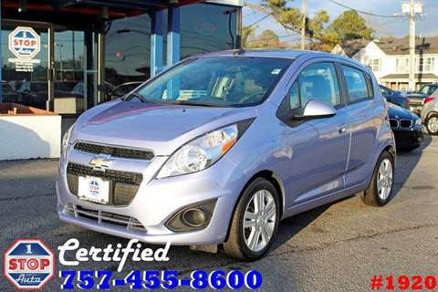2014 Chevrolet Spark for sale at 1 Stop Auto in Norfolk VA