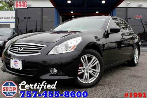 2011 Infiniti G37 Sedan for sale at 1 Stop Auto in Norfolk VA