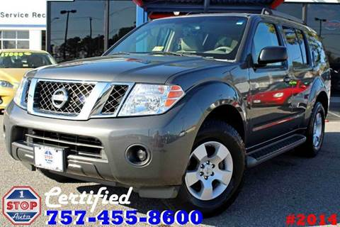 2008 Nissan Pathfinder for sale at 1 Stop Auto in Norfolk VA