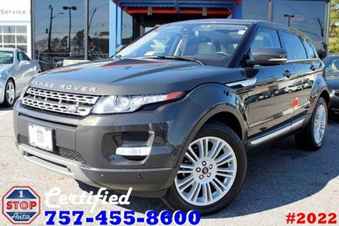 2013 Land Rover Range Rover Evoque for sale at 1 Stop Auto in Norfolk VA