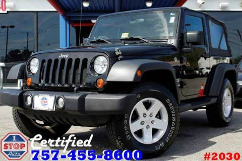 2011 Jeep Wrangler for sale at 1 Stop Auto in Norfolk VA