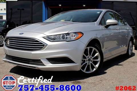 2017 Ford Fusion Hybrid for sale at 1 Stop Auto in Norfolk VA
