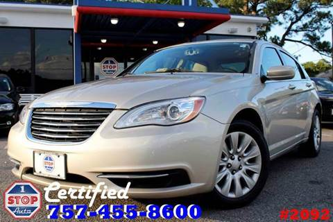 2013 Chrysler 200 for sale at 1 Stop Auto in Norfolk VA