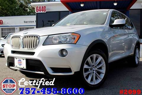 2013 BMW X3 for sale at 1 Stop Auto in Norfolk VA
