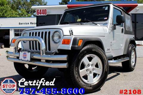 2006 Jeep Wrangler for sale at 1 Stop Auto in Norfolk VA