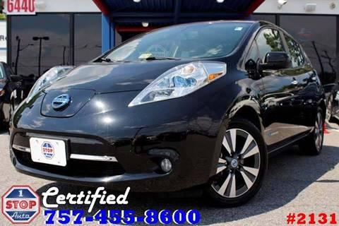 2013 Nissan LEAF for sale at 1 Stop Auto in Norfolk VA