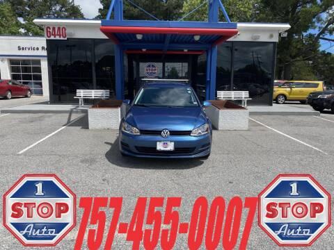 2016 Volkswagen Golf SportWagen for sale at 1 Stop Auto in Norfolk VA