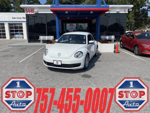2015 Volkswagen Beetle for sale at 1 Stop Auto in Norfolk VA