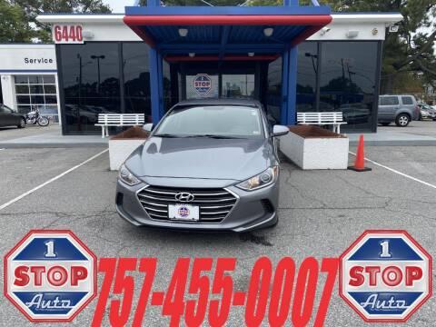 2017 Hyundai Elantra for sale at 1 Stop Auto in Norfolk VA