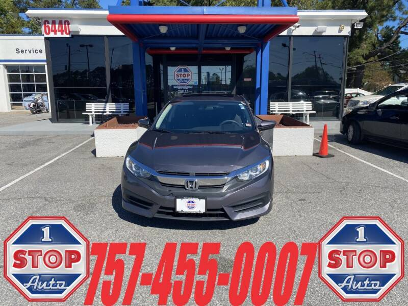 2016 Honda Civic for sale at 1 Stop Auto in Norfolk VA