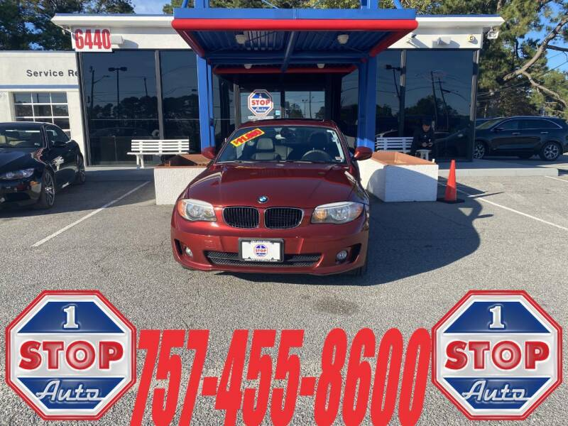 2012 BMW 1 Series for sale at 1 Stop Auto in Norfolk VA