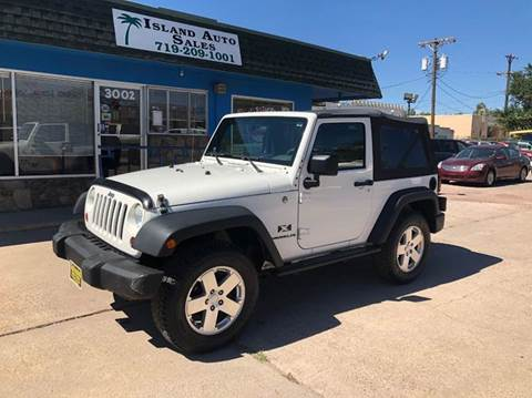 2009 Jeep Wrangler for sale at Island Auto Sales in Colorado Springs CO