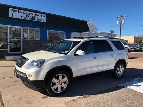 2010 GMC Acadia for sale at Island Auto Sales in Colorado Springs CO
