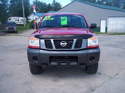 2008 Nissan Titan for sale at Shaw Motor Sales in Kalkaska MI