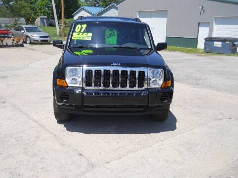 2007 Jeep Commander for sale at Shaw Motor Sales in Kalkaska MI
