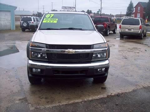 2007 Chevrolet Colorado for sale at Shaw Motor Sales in Kalkaska MI
