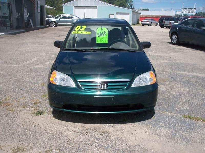 2002 Honda Civic for sale at Shaw Motor Sales in Kalkaska MI