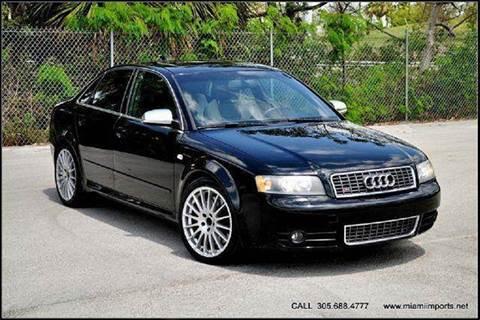 2004 Audi S4 for sale at MIAMI IMPORTS in Miami FL