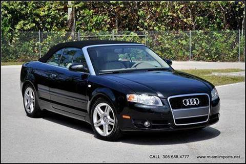2008 Audi A4 for sale at MIAMI IMPORTS in Miami FL