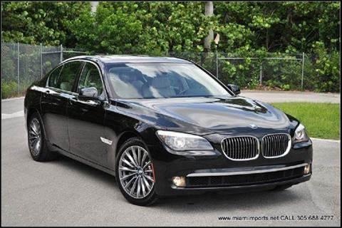 2011 BMW 7 Series for sale at MIAMI IMPORTS in Miami FL