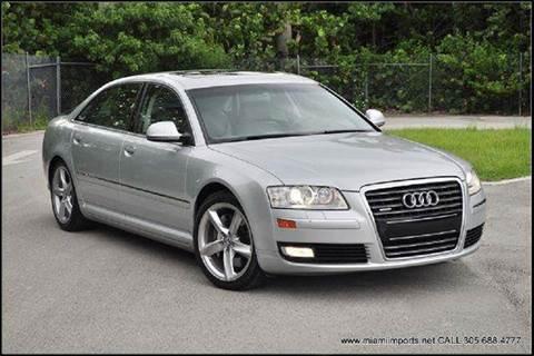 2008 Audi A8 for sale at MIAMI IMPORTS in Miami FL