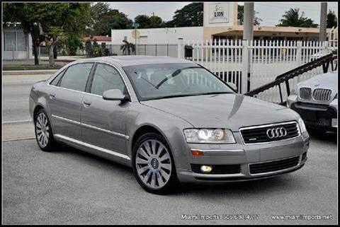 2004 Audi A8 for sale at MIAMI IMPORTS in Miami FL