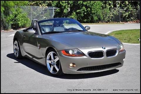2004 BMW Z4 for sale at MIAMI IMPORTS in Miami FL