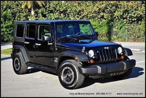 2008 Jeep Wrangler Unlimited for sale at MIAMI IMPORTS in Miami FL