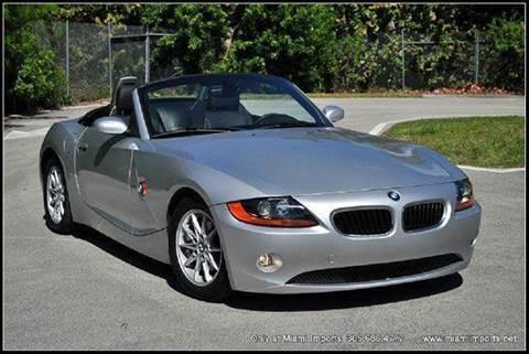 2003 BMW Z4 for sale at MIAMI IMPORTS in Miami FL