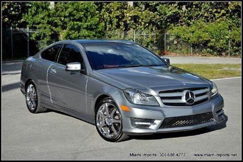 2012 Mercedes-Benz C-Class for sale at MIAMI IMPORTS in Miami FL