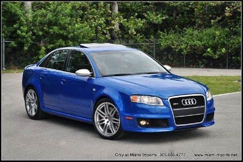 2007 Audi RS 4 for sale at MIAMI IMPORTS in Miami FL