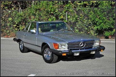 1975 Mercedes-Benz SL-Class for sale at MIAMI IMPORTS in Miami FL