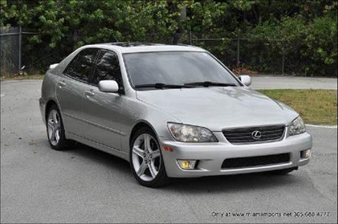 2001 Lexus IS 300 for sale at MIAMI IMPORTS in Miami FL