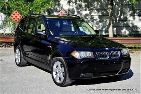 2006 BMW X3 for sale at MIAMI IMPORTS in Miami FL