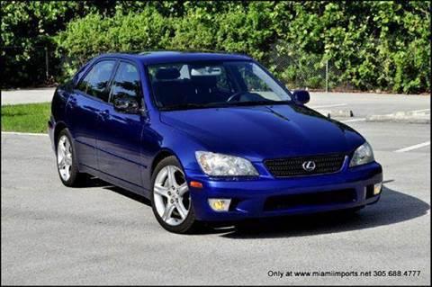 2002 Lexus IS 300 for sale at MIAMI IMPORTS in Miami FL