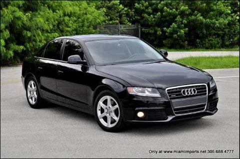 2009 Audi A4 for sale at MIAMI IMPORTS in Miami FL