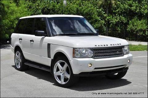 2006 Land Rover Range Rover for sale at MIAMI IMPORTS in Miami FL