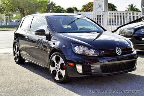 2012 Volkswagen GTI for sale at MIAMI IMPORTS in Miami FL