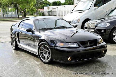 2003 Ford Mustang SVT Cobra for sale at MIAMI IMPORTS in Miami FL