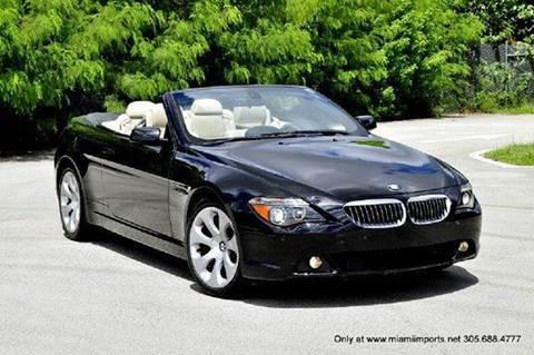 2007 BMW 6 Series for sale at MIAMI IMPORTS in Miami FL