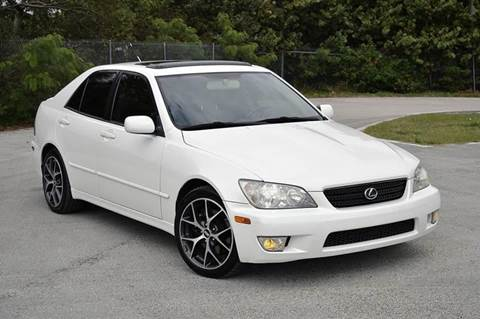2003 Lexus IS 300 for sale at MIAMI IMPORTS in Miami FL